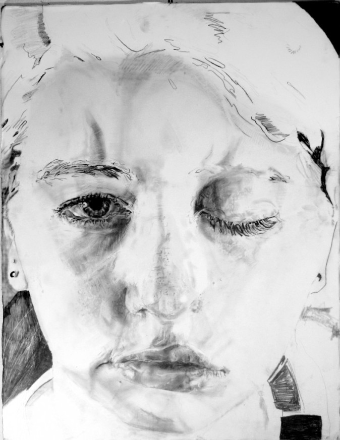 "Lauren A. Toomer Access, 2014 Graphite on paper,  22"" x 30"""