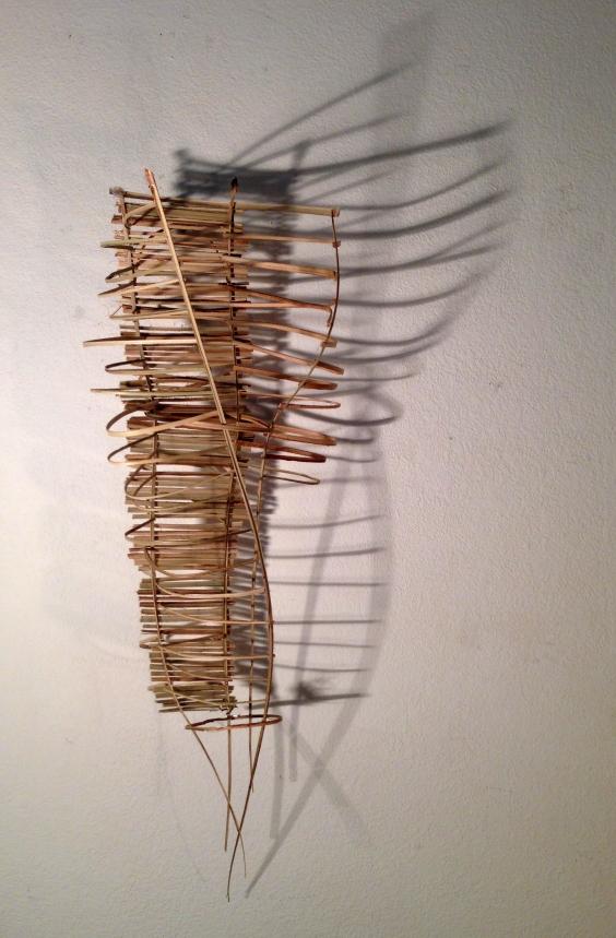 Lauren A. Toomer, Bamboo strips, 25 x 6 x 8