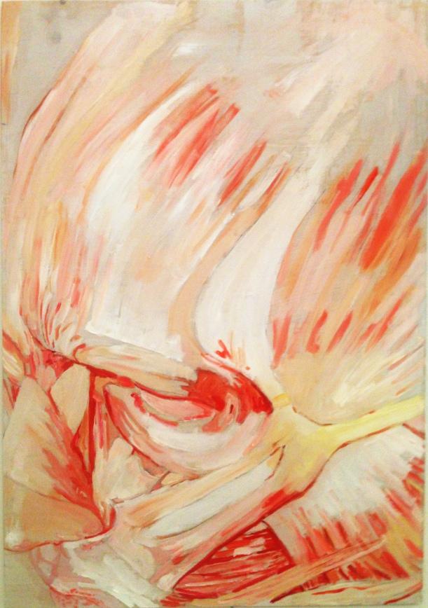 Lauren A. Toomer, Face(M1), 2014, Oil on panel