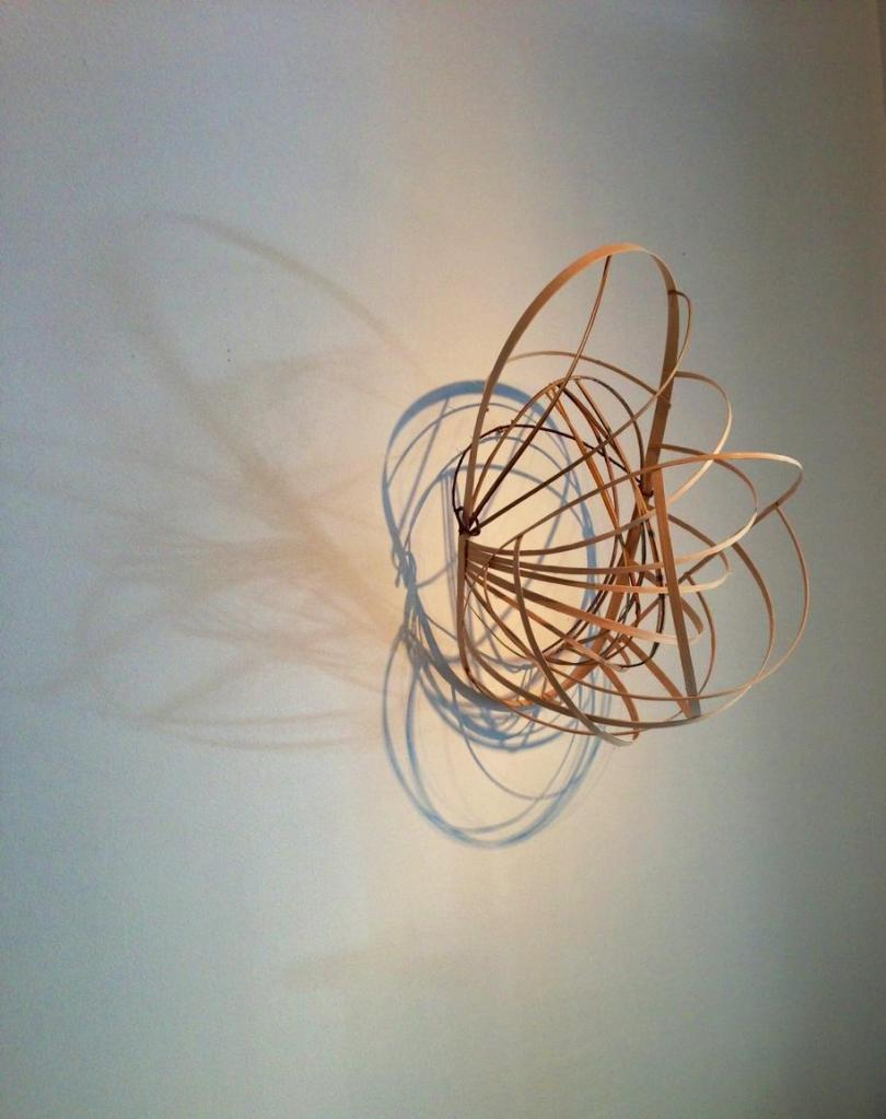 Lauren A. Toomer, Orbit, 2013| Bamboo, reed, shadow| 18 x 9 x 14 inches