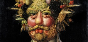 A keen observer as well as celebrated wit, Arcimboldo created composite portraits that were both enjoyed as jokes and taken very seriously. (Skokloster Castle, Skokloster)  Read more: http://www.smithsonianmag.com/arts-culture/Arcimboldos-Feast-for-the-Eyes.html#ixzz2XHtsXp3T