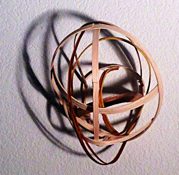 Lauren A. Toomer  Small Orbit, 2013 Bamboo, reed, shadow 5 x 5 x 4 inches
