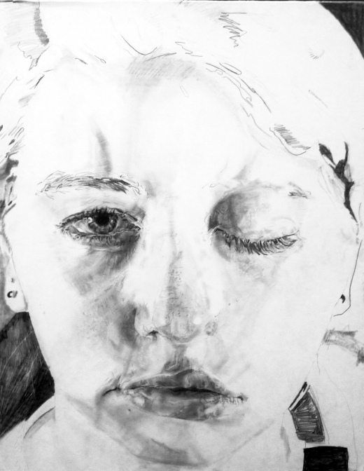 Access, 2014, Graphite on paper, 30x 22 in