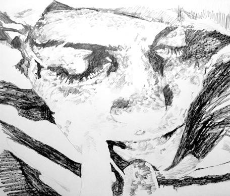 Lip, 2016, Graphite on paper, 13 x 19 in