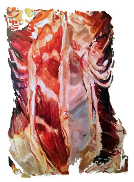 Torso I, oil on canvas, 36 x 24 in, 2016