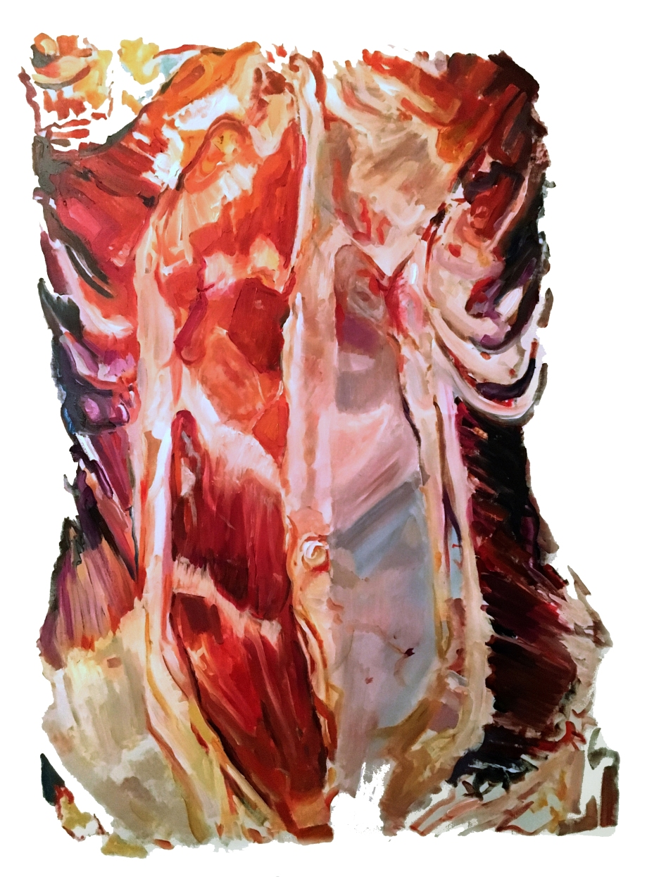 Torso I, oil on canvas, 36 x 24 in, 2016